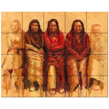 Native American Tile Murals