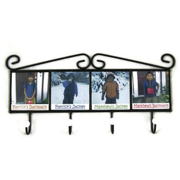 Wrought Iron Tile Coat Rack